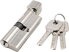 Slot Deurslot Cilinder Anti-diefstal ingang metalen deurslot met 3 sleutels Strong (Color : S)