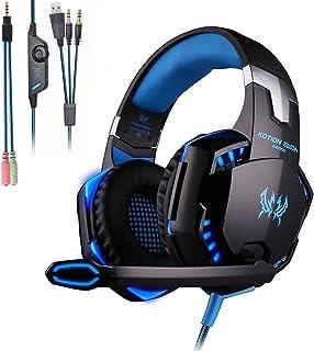 Mengshen Auriculares para Juegos - Con Micrófono, Control d