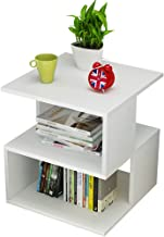 Yxsd Living Room Storage Table, Minimalist Mini Coffee Table Desk, White