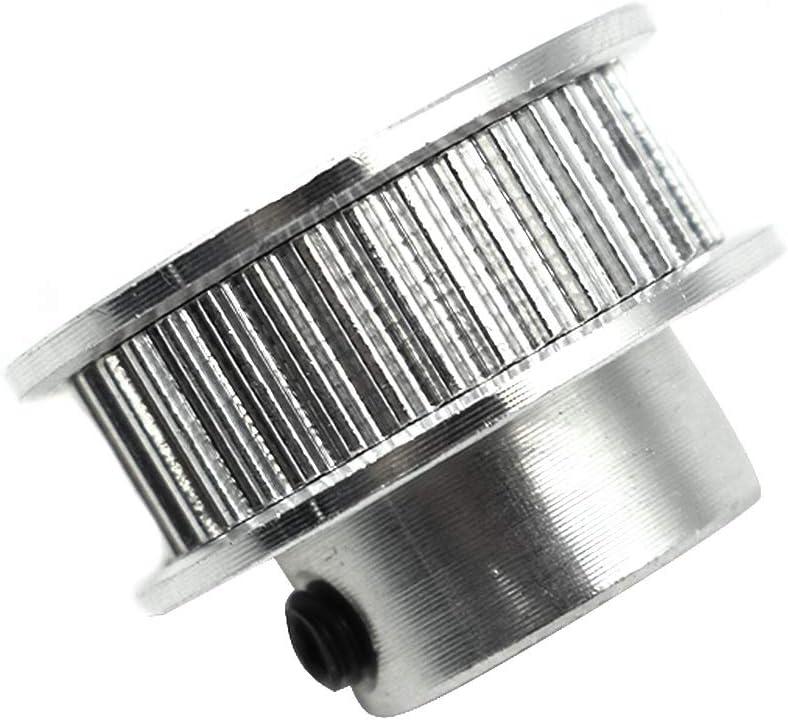2pcs TUOREN GT2 36 6.35mm Bore Timing Belt Pulley Flange Wheel Aluminum for 3D Printer