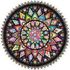 ★ADVANCED CHALLENGE: The Bgraamiens Puzzles–Geometric Colorful Mandala is a 1,000 pieces puzzle worthy of any skilled puzzler. This puzzle is a round Mandala with different patterns and colors which has a Geometric law. Vivid color and beautiful scen...