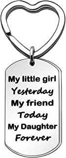 Daughter Gifts from Mom Dad Keychain Key Chain Keyring Christmas Thanksgiving Graduation Wedding Birthday Gifts