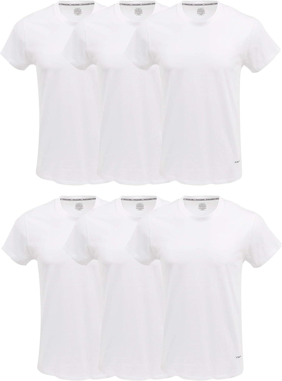 TAHARI Mens Big & Tall Undershirts Crewneck Multi Pack Short-Sleeve T-Shirt