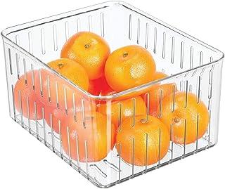 mDesign bac alimentaire pour la cuisine – grand rangement frigo en plastique sans couvercle pour fruits, légumes, etc. – r...