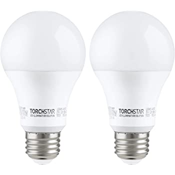 TORCHSTAR 15W Garage Door Opener LED Bulb, 100W Equivalent LED A19 Light Bulb, Shock Resistant Minimize Interference 1500lm Ultra-Bright 5000K Daylight, E26 Base, UL-Listed, Pack of 2