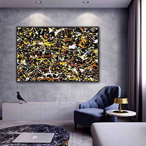 CUTMG Línea Abstracta Arte de la Pared Pintura en Lienzo Moda Graffiti Imágenes de Pared Pintura Sala de Estar Dormitorio Decoración de la Pared del hogar (40x60cm) Sin Marco