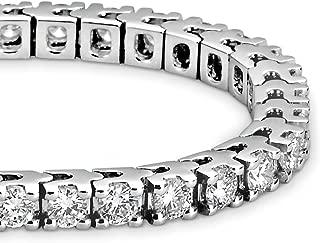 2-20 Carat Classic Tennis Bracelet 14K White Gold Premium Collection
