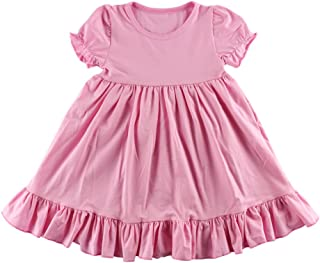 Wennikids Little Baby Girls' Short Sleeve Cotton Princess Dress
