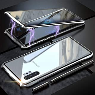 NuSense Galaxy Note 10+ Plus/5G/Pro Case,Bat Style Slim Metal Frame Tempered Glass Screen Protector Full Body Case with Ma...