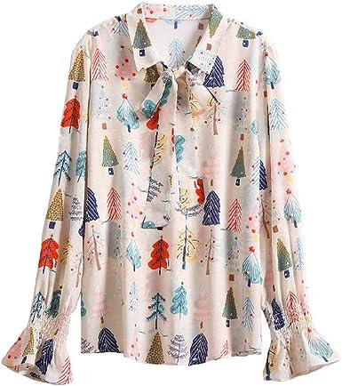 CISULI - Camisa de seda natural para mujer, 100% seda 01. M ...