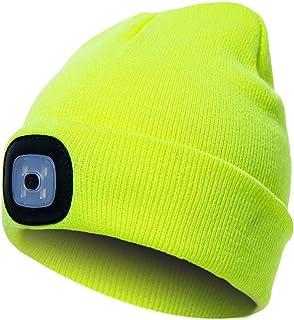 41e2f37340 Chapeau de lumière LED, mode Unisexe chaud Casquette Bonnet en tricot avec  éclairage LED pour