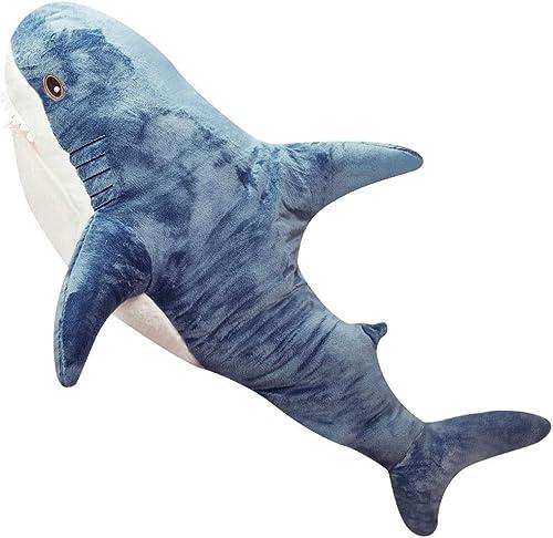 Tienda 2018 ACZZ Juguete de tiburón de peluche Juguete de de de tiburón de dibujos animados lindo para Niños 'S Habitación de juguete de almohada para Niños' S Dormitorio Almohada de tiburón Niño y niña,azul,120cm  salida de fábrica