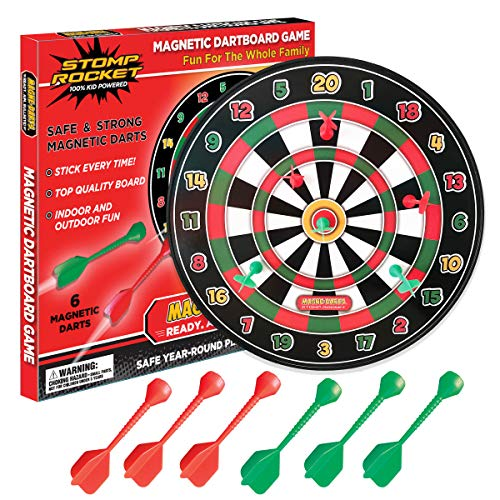 The Original Stomp Rocket Magne-Darts - 1 Dartboard with 6 Magnetic Darts for Kids - Great for Outdoor and Indoor Play, Safe Party Games and Toys
