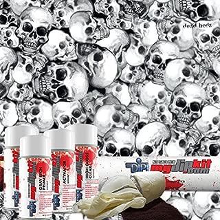 Black Dead Hedz Skulls - Hydrographics Film Kit - MyDipKit - LL-801 - Water Transfer Printing
