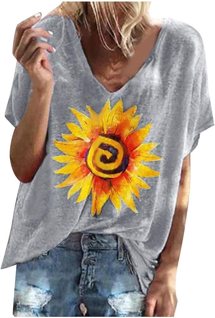 Camiseta Mujer, Verano Moda Manga Corta Casual Talla ...