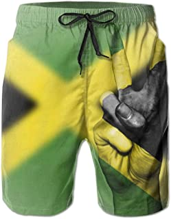 ef2cb092eecb Pillow Socks Men's Summer Beach Pant Flag of Jamaica Peace Surfing Board  Pants Shorts
