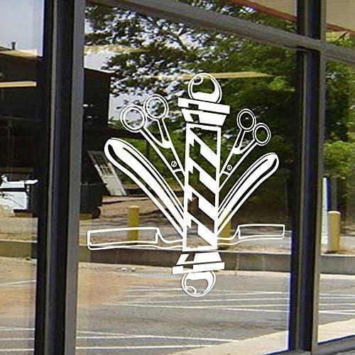 MoharWall Hair Stylish Decal Barber Shop Scissors Decor Hair Nail Salon Signboard Vinyl Wall product image