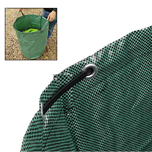 LJIANW Garden Waste Bags, Yard Waste Bags Sacks, Reuseable Lawn Leaf Bag, For Weeds Leaves Collector, Waterproof PP With Drawstring (Color : Green, Size : 272L/67X76CM)