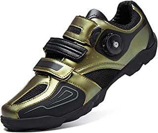 ZMYC Men's Road Cycling Shoes Bicycle Shoes Non-slip Light And Wear Resistant Bike Shoes Road Bike Shoes Mountain Bike Shoes (Color : Gold, Size : 38)