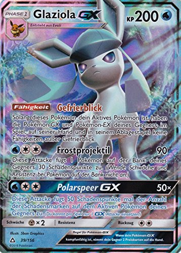 39/156 - Glaziola GX - Rare Holo GX - Pokemon - Deutsch - Ultra-Prisma