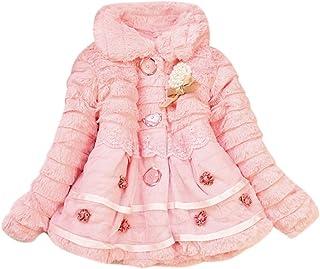 男やもめ心配する内部Laisla fashion 女の赤ちゃんのジャケット秋冬の毛皮のコートの女の子のぬいぐるみジャケットプリンセススウィートトランジションジャケット暖かい生き抜く小さな子供の暖かい カジュアル子供服