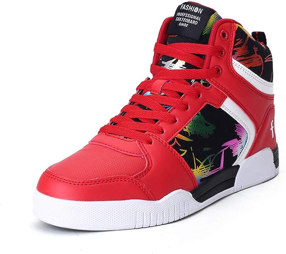 RUNSOON Men's 送料無料(一部地域を除く) 注文後の変更キャンセル返品 Women's Skateboarding Shoes High Top Basketball Sp