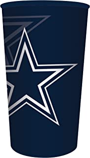 Creative Converting Officially Licensed NFL Plastic Souvenir Cups, 20-Count, 22-Ounce, Dallas Cowboys