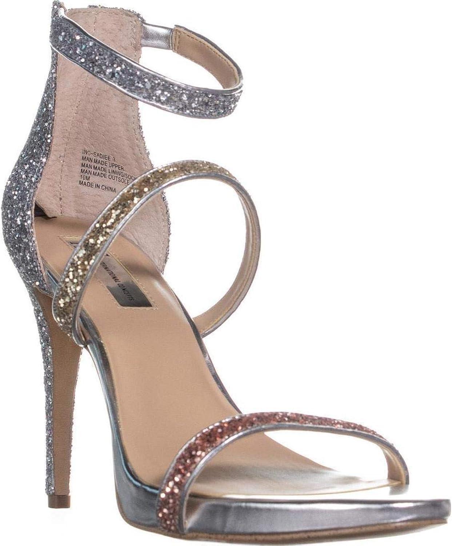 Inc Womens Sadiee 3 Tricolor Heels Dress Sandals Silver 6 Medium (B,M)