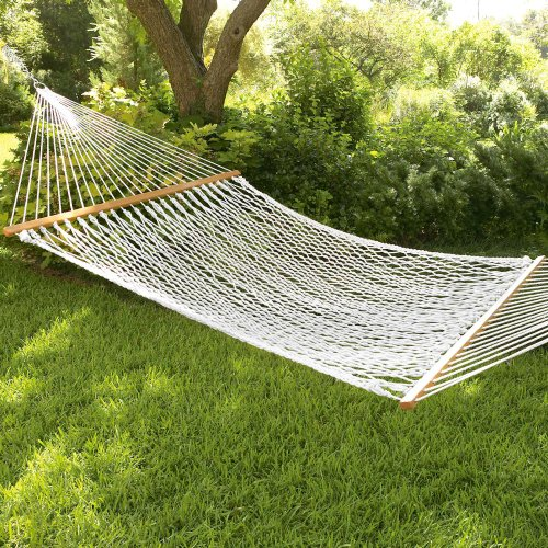 South Mission Double Rope Hammock W/Wooden Spreader Bars
