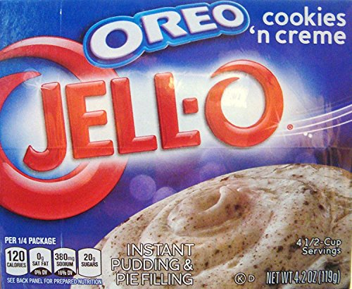 JELL-O OREO Cookies 'N Creme Instant Pudding and Pie Filling 4.2 oz ,Pack of 4 by Jell-O [Foods] …