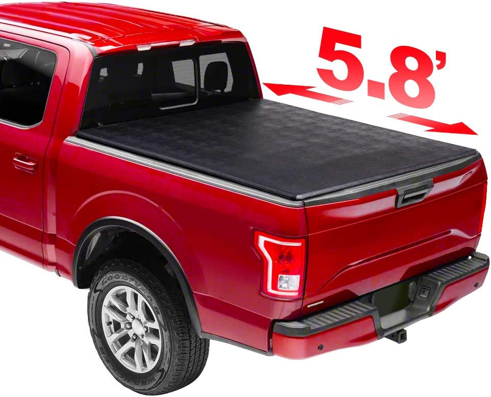 Niviora 5.8' Soft Long It is very popular Beach Mall Trifold Tonneau wit Truck Bed Compatible Cover