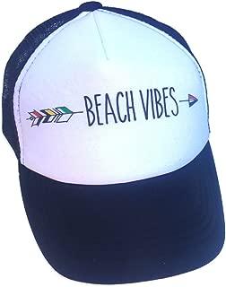 Beach Vibes Infant/Kids Black Trucker Hat