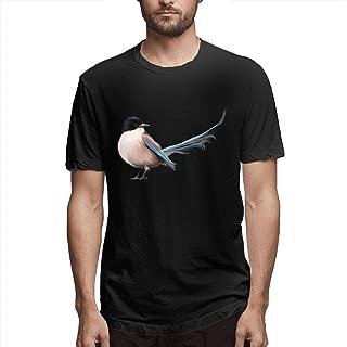 Zoomu CuckooBirdMen's Short Sleeve Standard T-Shirt Slim-fit Short-Sleeve Slub Henley T-Shirt