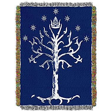 Lord of the Rings White Tree of Gondor Tapestry Throw Blanket