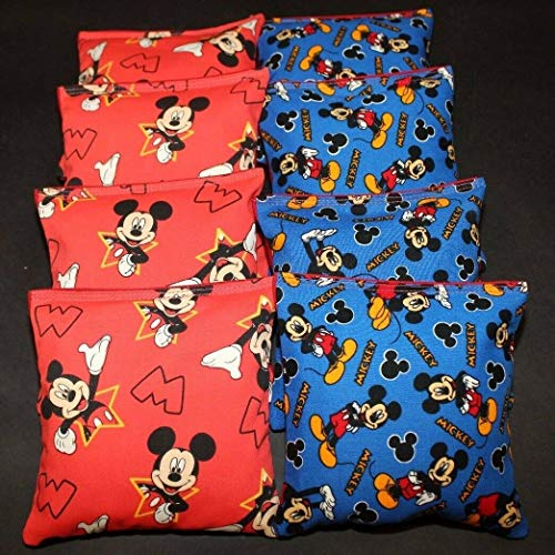 BackYardGamesUSA Mickey Mouse 8 ACA Regulation Cornhole Bean Bags Corn Toss Quality Handmade!