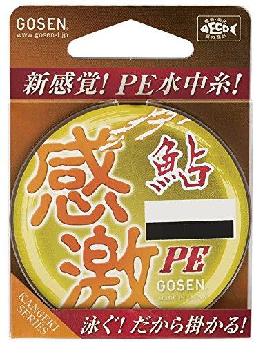 ゴーセン GOSEN PEライン 感激 鮎 PE 16m 0.15号 1.57kg GA500015