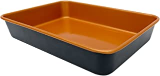 Gotham Steel 1359 Rectangle Nonstick Bakeware 9-Inch-by-13-Inch Baking Pan with Quick Release Coating, Brown