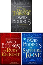The Elenium Trilogy 3 Books Collection Set By David Eddings (The Diamond Throne, The Ruby Knight, The Sapphire Rose)