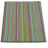 50cm* 160cm Bohemia colorido raya tela de algodón para coser, ropa de cama textil tela, almohadas y manualidades que acolcha