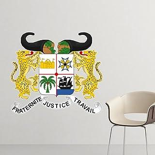Benin Emblema Nacional País Símbolo Marca Patrón Etiquetas engomadas desprendibles de la etiqueta engomada de la pared Papel pintado mural de DIY para la etiqueta de la habitación