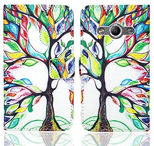 FoneExpert® Samsung Galaxy Xcover 3 Handy Tasche, Wallet Case Flip Cover Hüllen Etui Ledertasche Lederhülle Premium Schutzhülle für Samsung Galaxy Xcover 3 (Pattern 5)