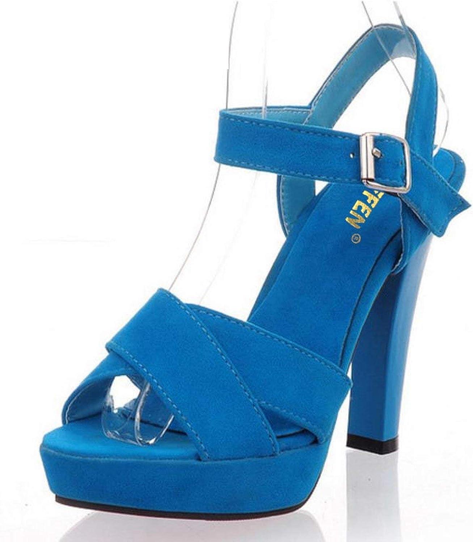 Houfeoans Size 34-45 Women high Heel Sandals Platform Fashion Dress Sexy shoes Heels Pumps P4741