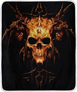 Vipsk Throw Blanket Super Soft Blanket Warm Polyester Microfiber Bed Blanket Lightweight Cozy Sofa Bed/Couch Throw for Beds Office Lap Couch Plush 50x60 Inch (Dark Evil Skull)