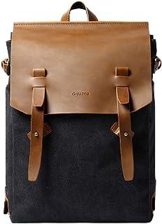 G-FAVOR Rucksack Damen PU Leder Rucksack Vintage Laptop Rucksack für Arbeit Wandern Reisen Camping,für Damen & Herren,20-35L
