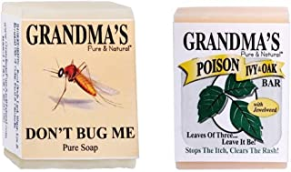 Grandma's Pure & Natural Poison Ivy Bar and 2.15OZ Don't Bug Me Bar by Remwood Products