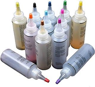 Tie Dye Kit, Teinture non toxique de peinture pour tissus pour vêtements Textile Graffiti en une étape, Teinture de tissu ...