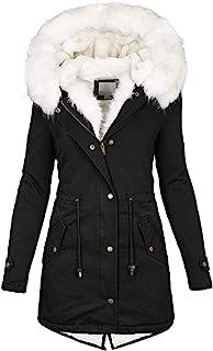 Modaworld Cappotto Invernale da Donna Elegante Piumino Pelliccia Giacca Donna Invernale Lungo Trench Giubbotto Giubbino Do...