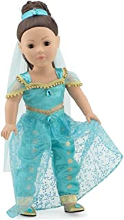 """Emily Rose 18 Inch Doll Stunning 4 Piece Jeweled Doll Princess Jasmine-Inspired Outfit, Including Shoes! 