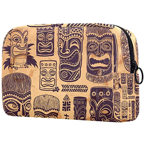 Gifts for Men Women Makeup Bag Toiletry Pouch Small Cosmetic Bag - Retro Vintage Aloha Set