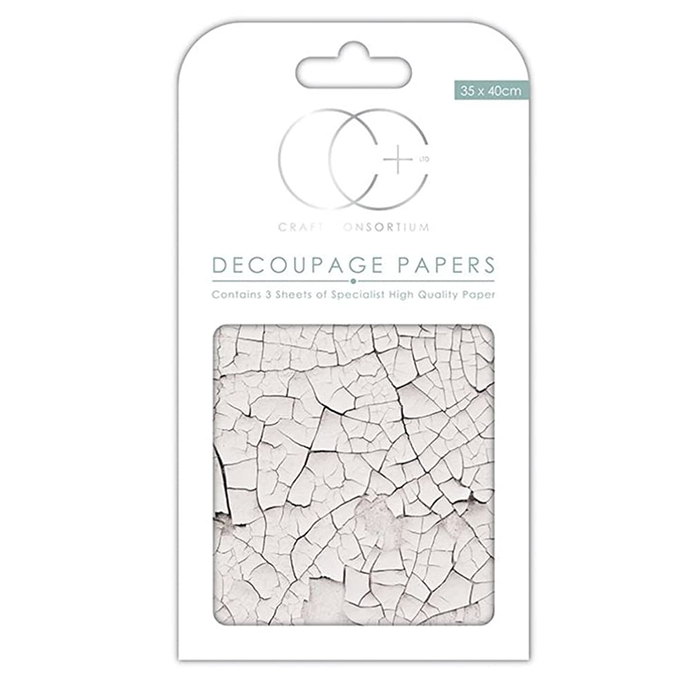 Craft Consortium CCEDCP156 Decoupage Papers (3 Pack), 13.75